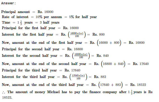 Compound Interest RS Aggarwal Class 8 Maths Solutions Ex 11A 10.1