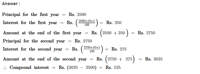 Compound Interest RS Aggarwal Class 8 Maths Solutions Ex 11A 3.1