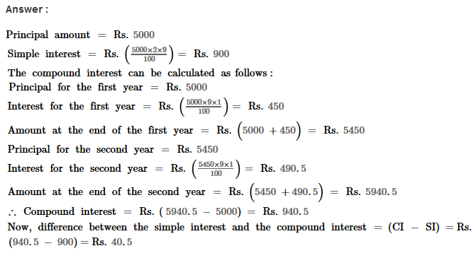 Compound Interest RS Aggarwal Class 8 Maths Solutions Ex 11A 5.1