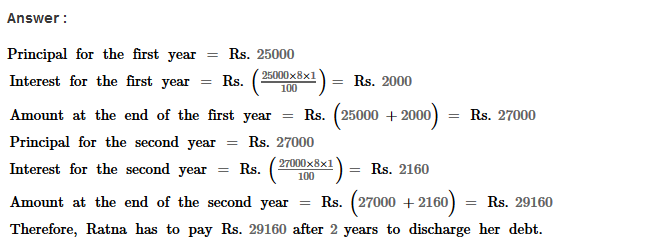 Compound Interest RS Aggarwal Class 8 Maths Solutions Ex 11A 6.1