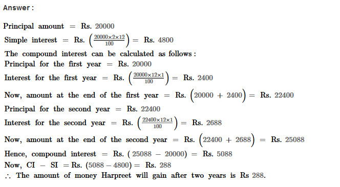 Compound Interest RS Aggarwal Class 8 Maths Solutions Ex 11A 7.1