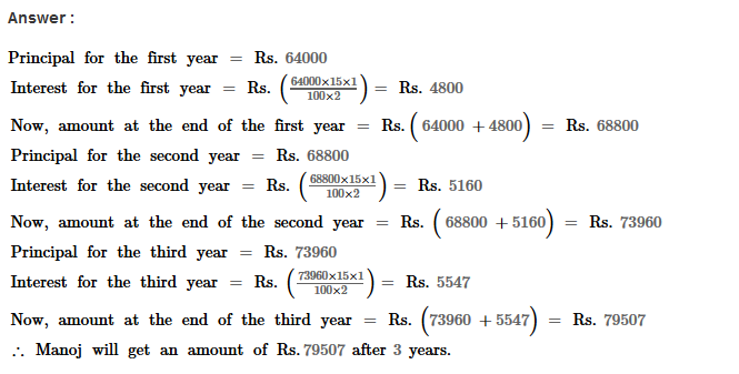 Compound Interest RS Aggarwal Class 8 Maths Solutions Ex 11A 8.1