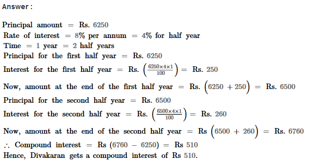 Compound Interest RS Aggarwal Class 8 Maths Solutions Ex 11A 9.1