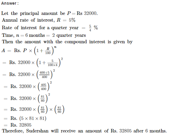Compound Interest RS Aggarwal Class 8 Maths Solutions Ex 11C 10.1