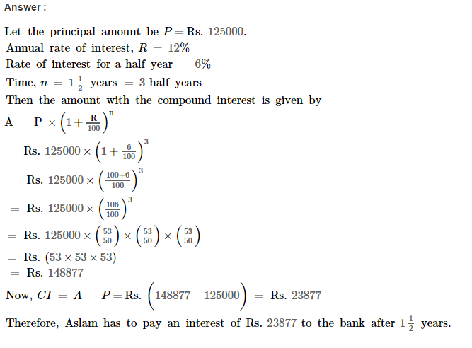 Compound Interest RS Aggarwal Class 8 Maths Solutions Ex 11C 7.1