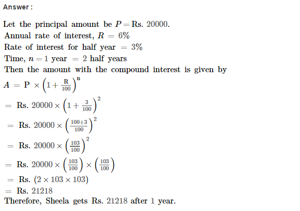 Compound Interest RS Aggarwal Class 8 Maths Solutions Ex 11C 8.1