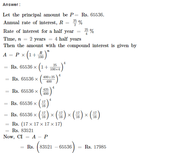 Compound Interest RS Aggarwal Class 8 Maths Solutions Ex 11C 9.1