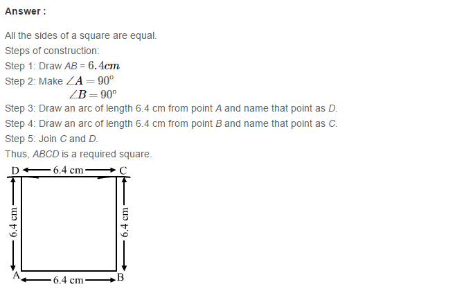 Construction of Quadrilaterals RS Aggarwal Class 8 Maths Solutions Ex 17B 11.1