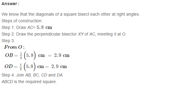 Construction of Quadrilaterals RS Aggarwal Class 8 Maths Solutions Ex 17B 12.1