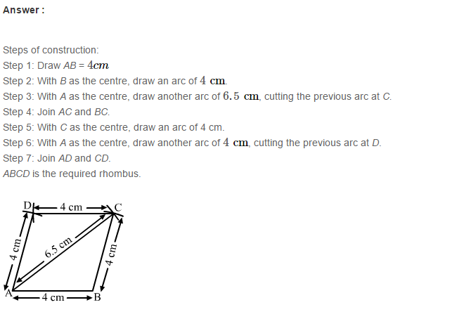 Construction of Quadrilaterals RS Aggarwal Class 8 Maths Solutions Ex 17B 15.1