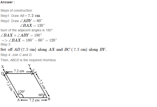 Construction of Quadrilaterals RS Aggarwal Class 8 Maths Solutions Ex 17B 16.1