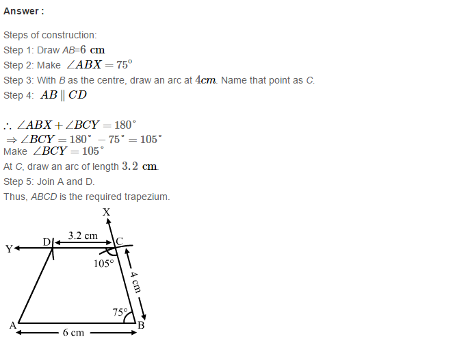 Construction of Quadrilaterals RS Aggarwal Class 8 Maths Solutions Ex 17B 17.1