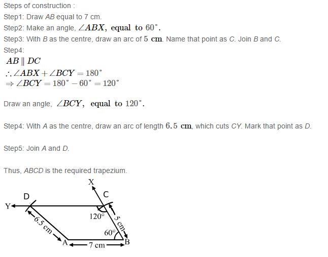 Construction of Quadrilaterals RS Aggarwal Class 8 Maths Solutions Ex 17B 18.1