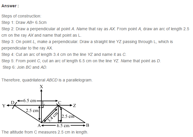Construction of Quadrilaterals RS Aggarwal Class 8 Maths Solutions Ex 17B 8.1