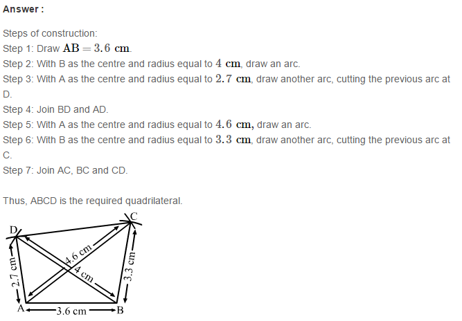 Construction of Quadrilaterals RS Aggarwal Class 8 Maths Solutions Exercise 17A 5.1