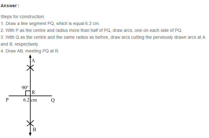 Constructions RS Aggarwal Class 6 Maths Solutions Exercise 14A 1.1