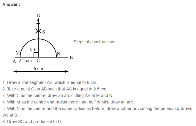 Constructions RS Aggarwal Class 6 Maths Solutions Exercise 14A 10.1