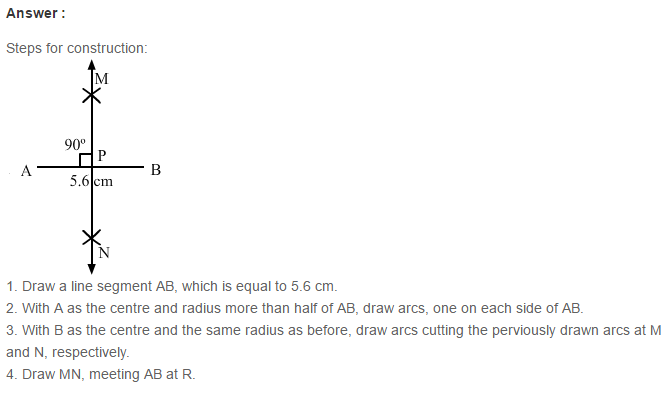 Constructions RS Aggarwal Class 6 Maths Solutions Exercise 14A 11.1