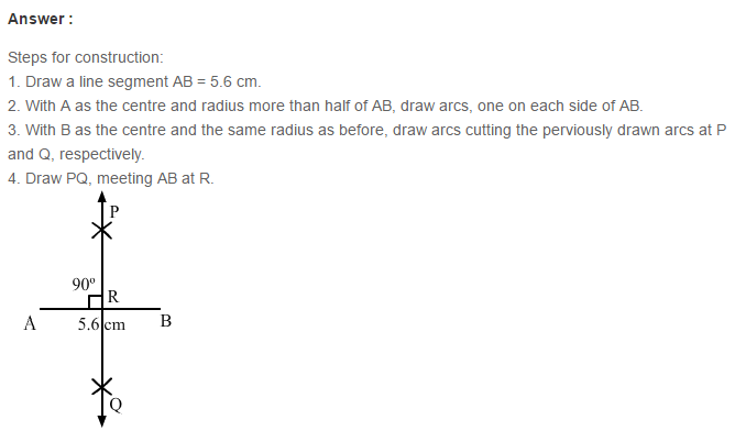 Constructions RS Aggarwal Class 6 Maths Solutions Exercise 14A 2.1