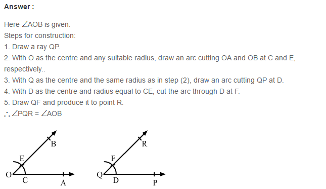 Constructions RS Aggarwal Class 6 Maths Solutions Exercise 14A 3.1