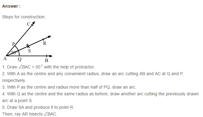 Constructions RS Aggarwal Class 6 Maths Solutions Exercise 14A 4.1