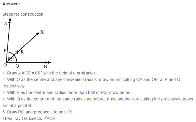 Constructions RS Aggarwal Class 6 Maths Solutions Exercise 14A 5.1