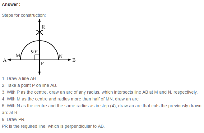 Constructions RS Aggarwal Class 6 Maths Solutions Exercise 14A 6.1