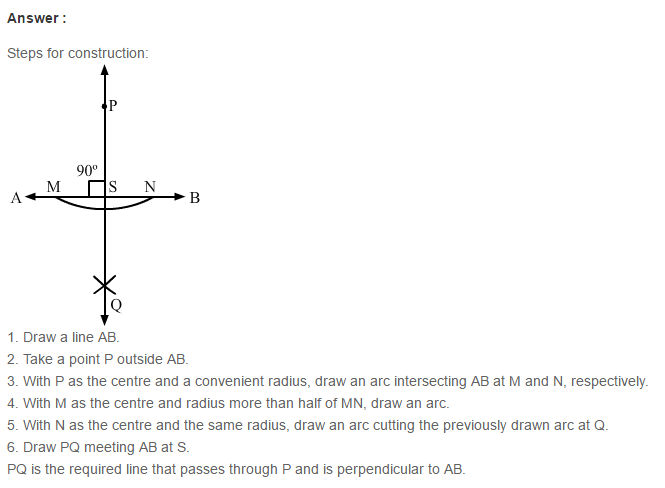 Constructions RS Aggarwal Class 6 Maths Solutions Exercise 14A 7.1