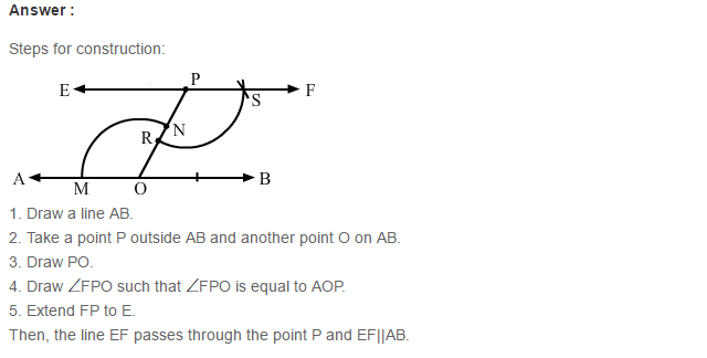 Constructions RS Aggarwal Class 6 Maths Solutions Exercise 14A 8.1