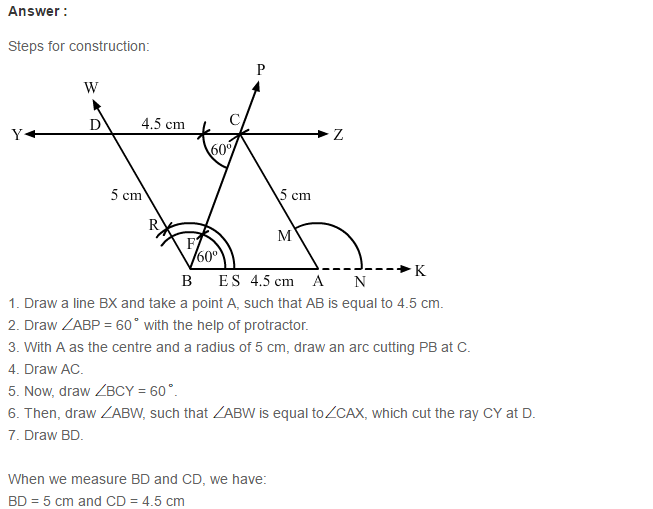Constructions RS Aggarwal Class 6 Maths Solutions Exercise 14A 9.1