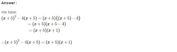 Factorisation RS Aggarwal Class 8 Maths Solutions Ex 7A 11.1