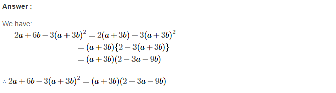 Factorisation RS Aggarwal Class 8 Maths Solutions Ex 7A 13.1