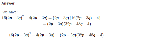 Factorisation RS Aggarwal Class 8 Maths Solutions Ex 7A 14.1