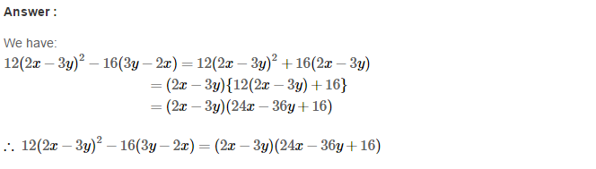 Factorisation RS Aggarwal Class 8 Maths Solutions Ex 7A 16.1