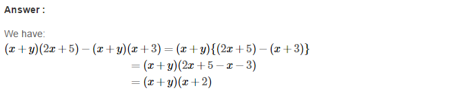 Factorisation RS Aggarwal Class 8 Maths Solutions Ex 7A 17.1