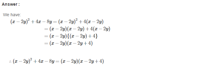 Factorisation RS Aggarwal Class 8 Maths Solutions Ex 7A 23.1
