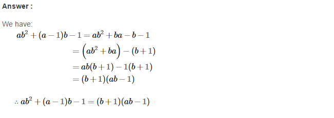 Factorisation RS Aggarwal Class 8 Maths Solutions Ex 7A 26.1