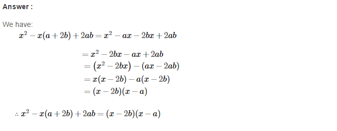 Factorisation RS Aggarwal Class 8 Maths Solutions Ex 7A 29.1