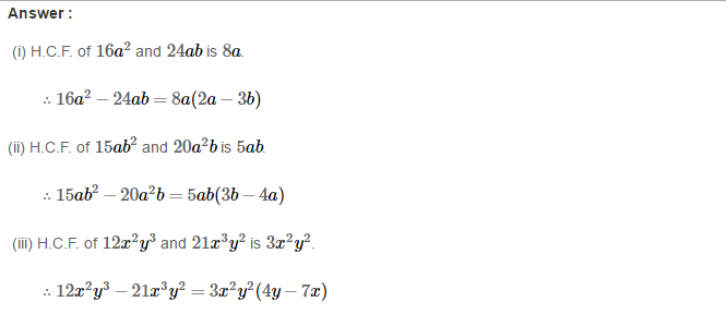 Factorisation RS Aggarwal Class 8 Maths Solutions Ex 7A 3.1