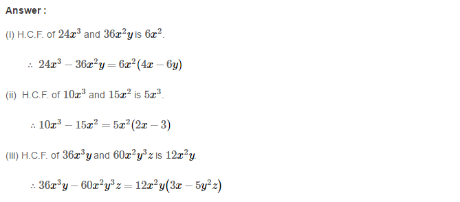 Factorisation RS Aggarwal Class 8 Maths Solutions Ex 7A 4.1