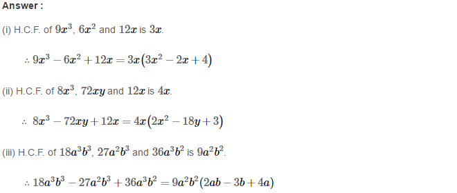 Factorisation RS Aggarwal Class 8 Maths Solutions Ex 7A 5.1