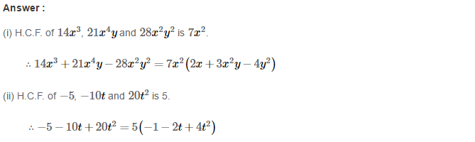 Factorisation RS Aggarwal Class 8 Maths Solutions Ex 7A 6.1