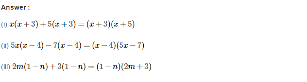 Factorisation RS Aggarwal Class 8 Maths Solutions Ex 7A 7.1