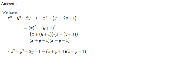 Factorisation RS Aggarwal Class 8 Maths Solutions Ex 7B 27.1