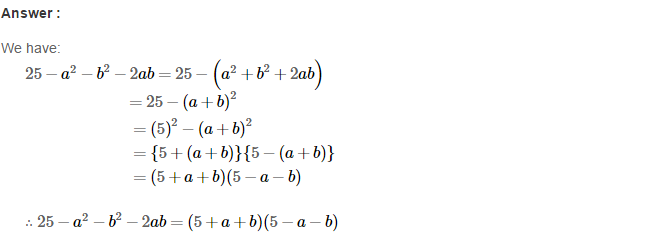 Factorisation RS Aggarwal Class 8 Maths Solutions Ex 7B 28.1