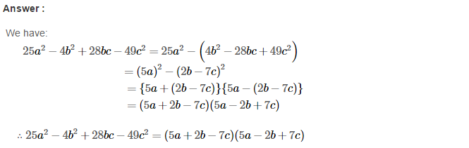 Factorisation RS Aggarwal Class 8 Maths Solutions Ex 7B 29.1