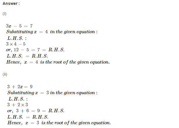 Linear Equation In One Variable RS Aggarwal Class 6 Maths Solutions Ex 9A 1.10