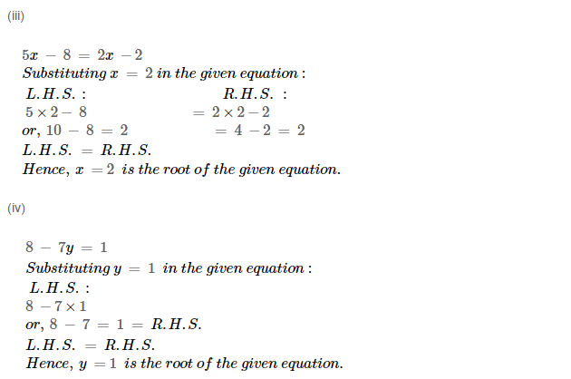 Linear Equation In One Variable RS Aggarwal Class 6 Maths Solutions Ex 9A 1.11