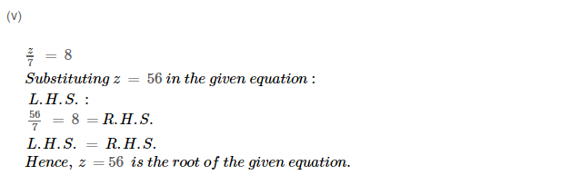 Linear Equation In One Variable RS Aggarwal Class 6 Maths Solutions Ex 9A 1.12