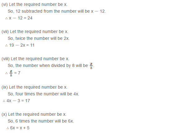 Linear Equation In One Variable RS Aggarwal Class 6 Maths Solutions Ex 9A 1.8